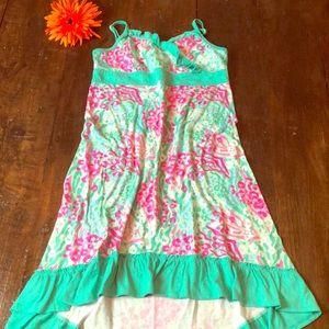 Girls/Youth aqua and pink PJ dress.